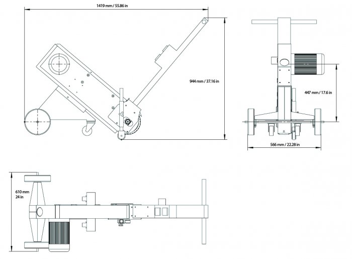 Proportions of BELT GRINDER RUNNER 75